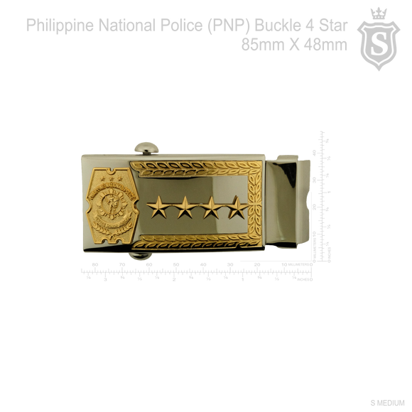 Philippine National Police (PNP) PCO Buckle with 4 Star 85mm