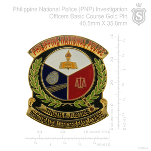 Philippine National Police (PNP) Investigation Officers Basic Course Pin IOBC