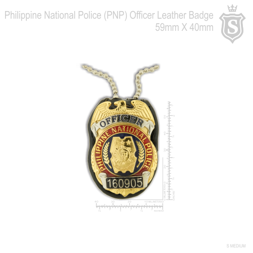 Philippine National Police (PNP) Officer Leather mini Badge