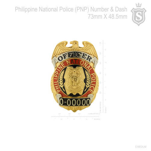 PNP Badge Numbers and Dash 73mm