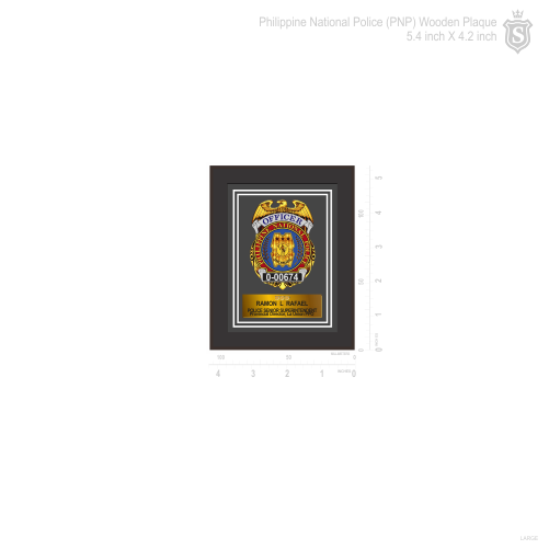 Philippine National Police (PNP) wooden Plaque 5.4 inch