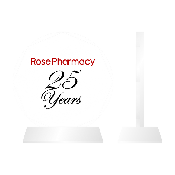 Rose Pharmacy crystal style and normal Tenured Plaque