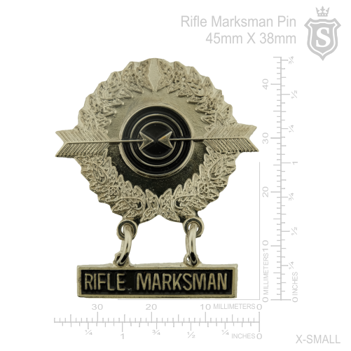 Rifle Marksman Pin Silver