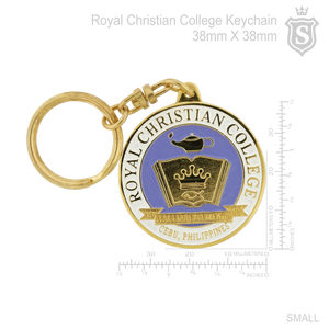 Royal Christian College Keychain Gold 38mm