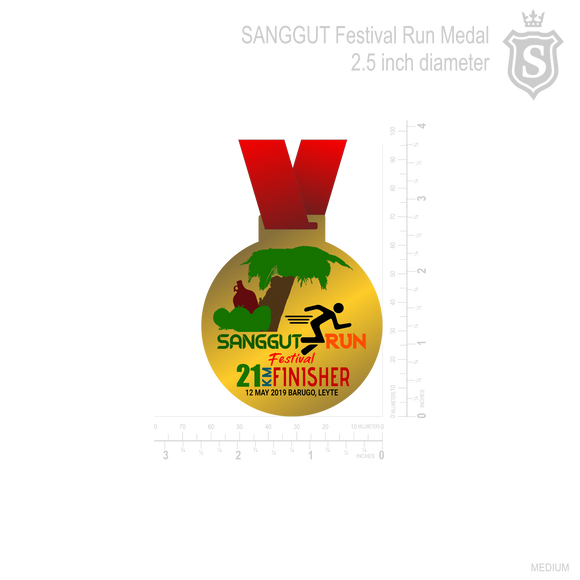 SANGGUT RUN 21K FINISHER'S MEDAL