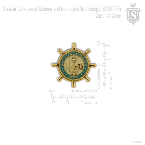 Salazar Colleges Science Institute of Technology (SCSIT) Maritime College Pin