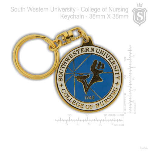 South Western University (SWU) - College of Nursing Keychain Gold