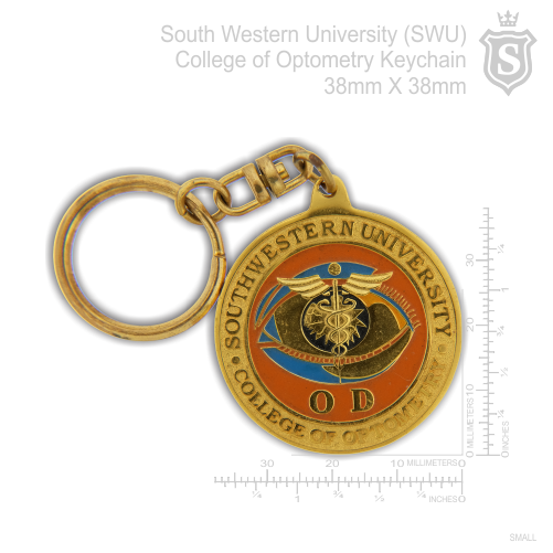 South Western University (SWU) College of Optometry Keychain 38mm