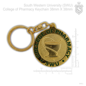 South Western University (SWU) College of Pharmacy Keychain