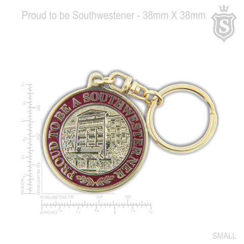 South Western University SWU Proud To Be Southwestener Keychain Gold 38mm