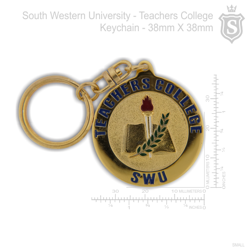 South Western University (SWU) - Teachers College Keychain Gold