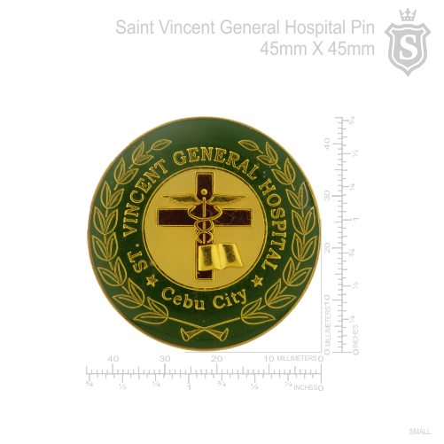 Saint Vincent General Hospital Metal Back Pin
