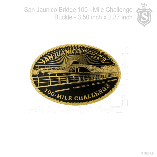 San Juanico 100 - Mile Challege Buckle 3.5 inch