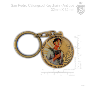 San Pedro Calungsod Keychain Antique 32mm