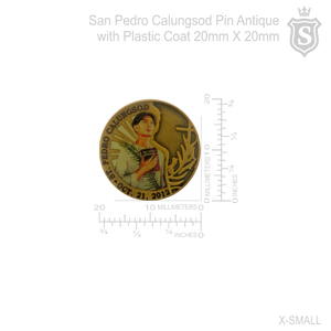 San Pedro Calungsod Pin Antique with Plastic Coat
