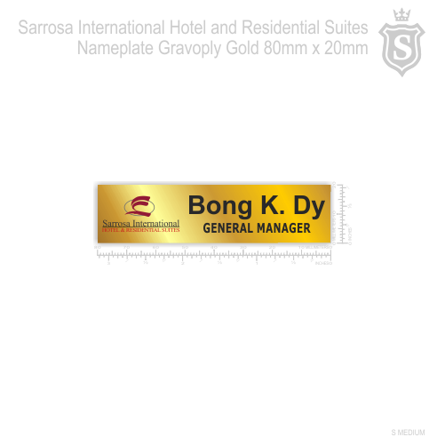 Sarrosa International Hotel and Residential Suites Nameplate