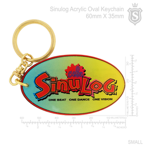 Sinulog Acrylic Oval Keychain 60mm