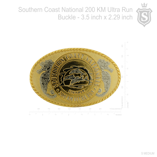 Southern Coast National 200 Km Ultra Run Buckle 3.5 inch