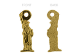 Statue of Liberty Pendant Gold 20mm