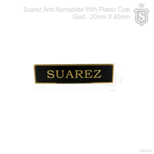 PNP Nameplate with Plastic Coat 80mm