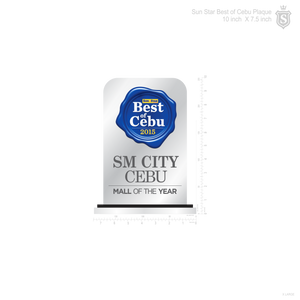 Sun Star Best of Cebu Plaque 10 inch