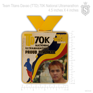 TTD 70K Ultramarathon Finisher Medal