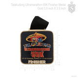 Talakudong Ultramarathon 55K Finisher Medal Gold