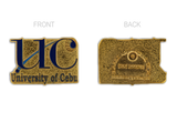 University of Cebu (UC) Pin Rectangular Gold 22mm