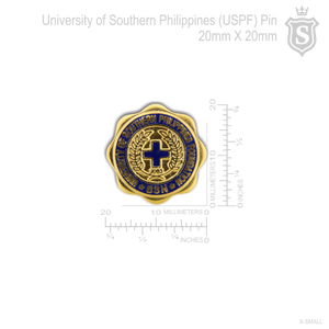 University of Southern Philippines Foundation (USPF) Pin Gold 20mm