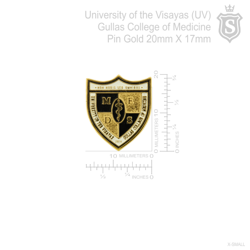 University of the Visayas (UV) Gullas College of Medicine Pin Gold