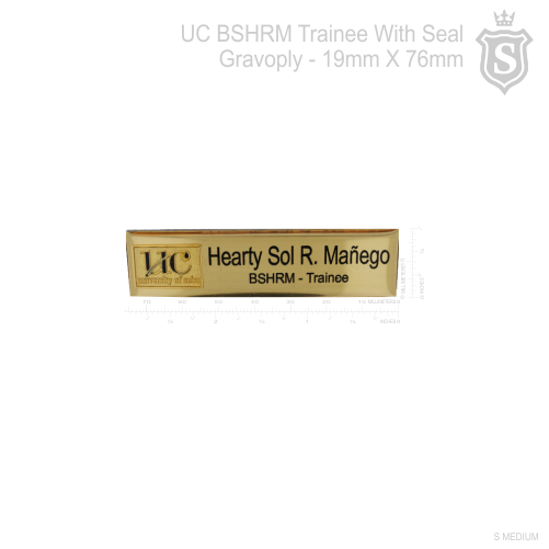 University of Cebu (UC) Nameplate- 3D Embossed Metal Seal