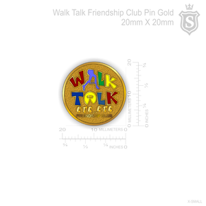 Walk and Talk Pin