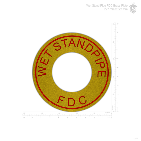 Standpipe System Sign- Circular