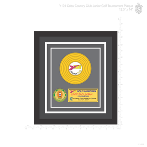"Y101 Cebu Country Club Junior Golf Tournament Platinum Vinyl Plaque 12.5"" x 14"""