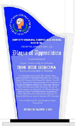 "Plaque of Appreciation with double acrylic body 5""x 8"""