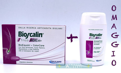 Bioscalin tricoage 45+ IN OMAGGIO LO SHAMPOO TRICOAGE 45+ - Farmaciaalibertishop.it