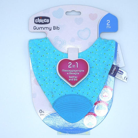 chicco Gummy Bib massaggia gengive e bavaglino - Farmaciaalibertishop.it