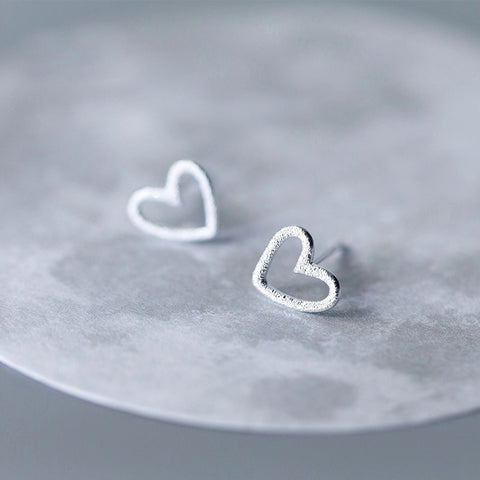 Shimmer Heart Studs 2-3 week wait