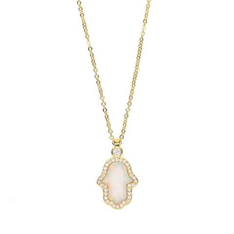 home swarovski hamsa duo jewellers product hand fishers necklace