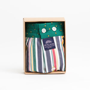 Striped Multicolor with Soldier Print Waistband