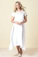 CEFALU DRESS - WHITE