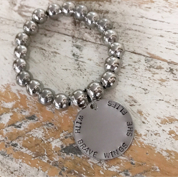 CUSTOM STAMPED QUOTE BRACELET
