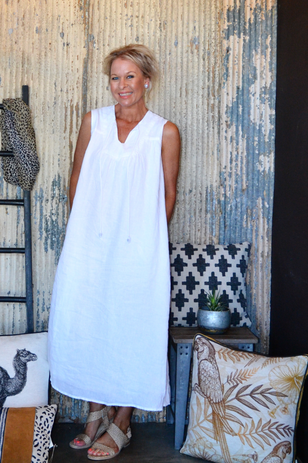 NOMAD DRESS - WHITE