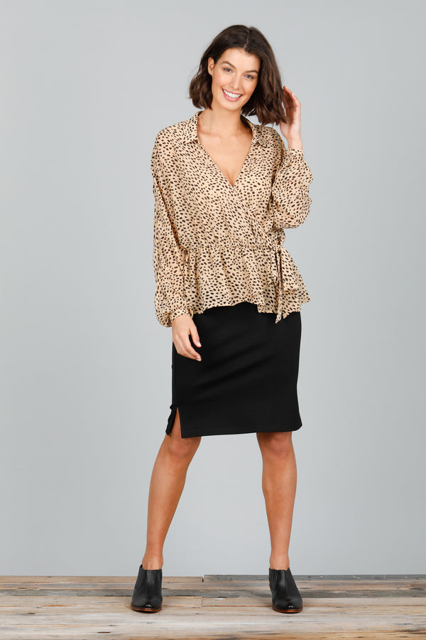 BRENTWOOD SHIRT - DALMATION TAN