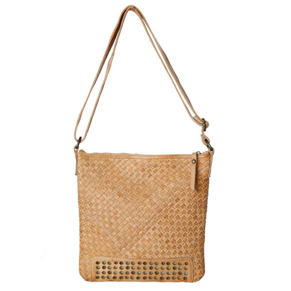 CLEO WOVEN BAG - CAMEL