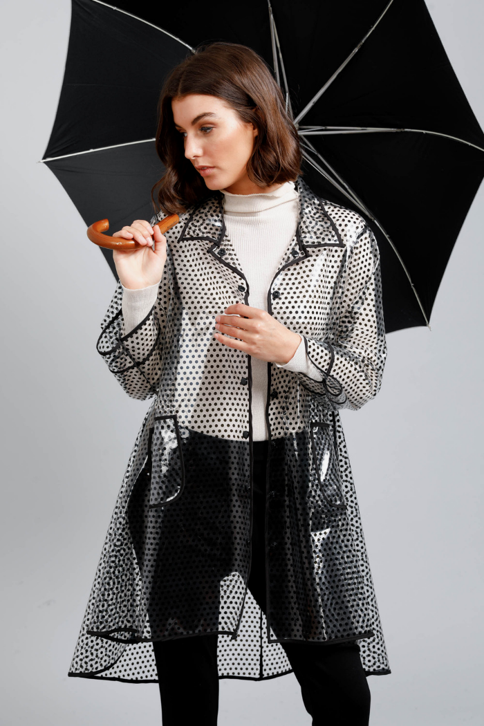 RAINY DAY RAIN COAT - BLACK SPOT