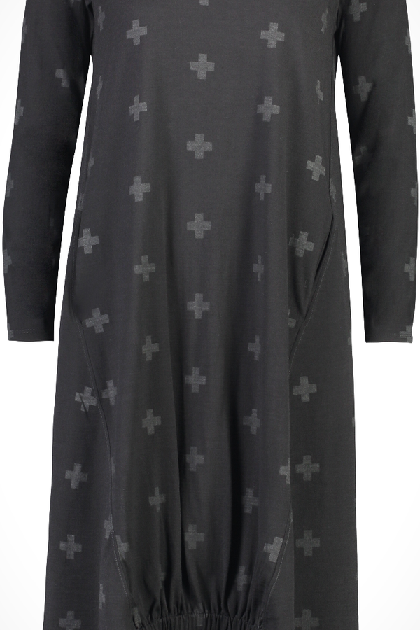 DIVINE PROVENANCE DRESS - CROSS PRINT