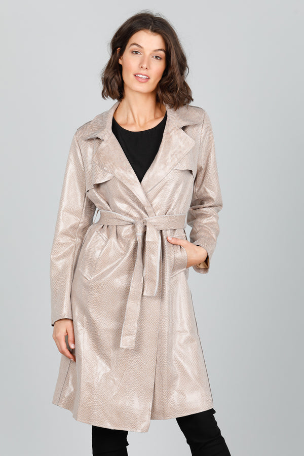 SAFARI TRENCH COAT - NATURAL REPTILE