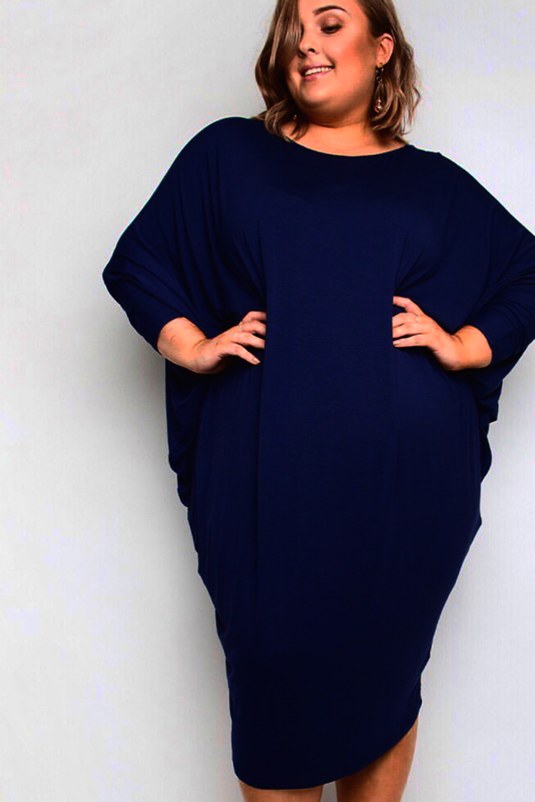 CURVED MIRACLE DRESS - MIDNIGHT