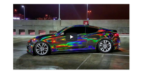 What it is Oilslick Chrome Vinyl (Also known as Holographic Rainbow and Neo Chrome)